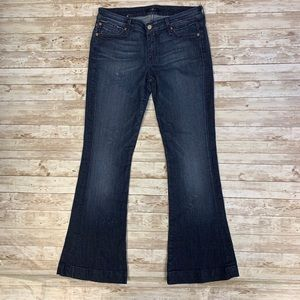 7 For All Mankind Distressed Flare Leg Jeans